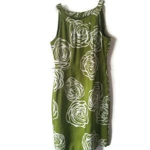 Anne Klein Dress Silk Summer green sz 10